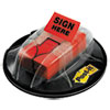 High Volume Flag Dispenser, sign Here, Red, 200 Flags/dispenser