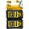 "Arrow Message 1"" Page Flags, ""notarize,"" Yellow, 2 50-Flag Dispensers/pack"