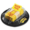 Page Flags In Dispenser, sign Here, Yellow, 200 Flags/dispenser
