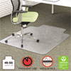 Environmat Recycled Anytime Use Chair Mat, Med Pile Carpet, 45x53 W/lip, Clear