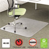 Environmat Recycled Anytime Use Chair Mat For Med Pile Carpet, 46 X 60, Clear