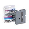 """TX Tape Cartridge for PT-8000, PT-PC, PT-30/35, 3/8""""w, Black on White"""