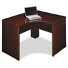 Corner desk shell with scratch- and stain-resistant Diamond Coat® top.