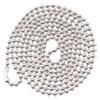 Id Badge Holder Chain, Ball Chain Style, 36 Long, Nickel Plated, 100/box