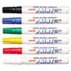 uni-Paint Marker, Medium Point, Assorted, 6/Set