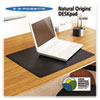 Natural Origins Desk Pad, 36 X 20, Matte, Black