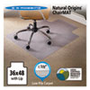 Natural Origins Chair Mat With Lip For Carpet, 36 x 48, Clear