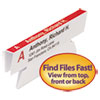 Viewables Color Labeling System, Angle View Refill, 3 1/2 Inch, White, 45/pack