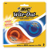 Wite-Out Ez Correct Correction Tape, Non-Refillable, 1/6 X 472, 2/pack