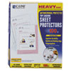 "Hvywt Poly Sht Protector, Clear, Top-Loading, 2"", 11 X 8 1/2, 100/bx"