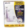"Super Heavyweight Vinyl Sheet Protector, Clear, 2"", 11 x 8 1/2, 50/BX"