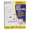 "Heavyweight Polypropylene Sheet Protector, Clear, 2"", 11 x 8 1/2, 50/BX"