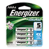 Nimh Rechargeable Batteries, Aaa, 4 Batteries/pack