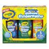 Washable Fingerpaint Pack, 3 Assorted Bright Colors, 8 Oz Tubes, 3/pack