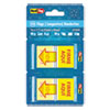 Spanish Page Flags In Pop-Up Dispenser, firme Aqul, Red/yellow, 100/pack