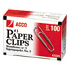 SMOOTH ECONOMY PAPER CLIP, #3, SILVER, 100/BOX, 10 BOXES/PACK