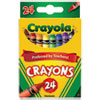 Classic Color Crayons, Peggable Retail Pack, 24 Colors