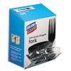 Grab'n Go Wrapped Cutlery, Forks, Black, 90/box
