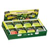 Green Tea Assortment, Individually Wrapped, Eight Flavors, 64 Tea Bags/Box