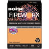 Fireworx Colored Paper, 20lb, 8-1/2 X 11, Pumpkin Glow, 500 Sheets/ream