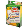 Washable Dry Erase Crayons w/E-Z Erase Cloth, Assorted Colors, 8/Pack 985200