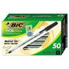 Ecolutions Round Stic Ballpoint Pen, Black Ink, 1mm, Medium, 50/pack