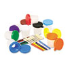 No-Spill Cups & Coordinating Brushes, Assorted Colors, 10/Set 5104
