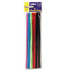 Regular Stems, 12 X 4mm, Metal Wire, Polyester, Assorted, 100/pack