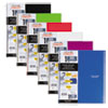 Wirebound Quadrille Notebook, 8 1/2 x 11, 1 Subject, White, 100 Sheets, Assorted