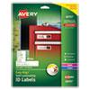Easy Align Self-laminating Id Labels, Laser/inkjet, 1 1/32 X 3 1/2, White, 250