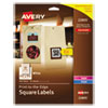 LABEL,SQ,1.5X1.5,600PK,WH