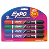 Picture of 2-in-1 Dry Erase Markers 5 Assorted Colors Medium 4Pack