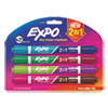 Picture of 2-in-1 Dry Erase Markers 8 Assorted Colors Medium 4Pack