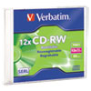 Cd-Rw, 700mb, 4x-12x High Speed, Branded Surface, 1/pk Slim Case