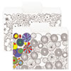 """Supertab Coloring File Folders, 1/3 Cut, 3/4"""" Expansion, Letter, White, 6/pack"""