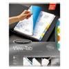 View-Tab Transparent Index Dividers, 8-Tab, Round, Letter, Assorted
