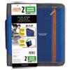 """Zipper Binder, 11 x 8 1/2, 2"""" Capacity, Blue"""