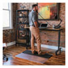 Sit Or Stand Mat For Carpet Or Hard Floors, 45 X 53, Clear/black