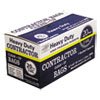 Heavy-Duty Contractor Clean-Up Bags, 55-60 Gal, 3 Mil, 32 X 50, Black, 20/carton