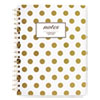 Gold Dots Hardcover Notebook, 9 1/2 x 7 1/4, 80 Sheets