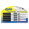 Low-Odor Dry-Erase Marker, Ultra Fine Point, Black, 4/Pack