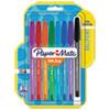 Inkjoy 100 Ballpoint Stick Pen, 1mm, Assorted, 8/set