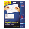 Repositionable Address Labels, Inkjet/laser, 2 X 4, White, 250/box