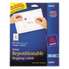 Repositionable Shipping Labels, Inkjet/laser, 3 1/3 X 4, White, 150/box
