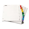 Traditional OneStep Index System, 10-Tab, 1-10, Letter, Multicolor, 6 Sets