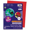 Riverside Construction Paper, 76 Lbs., 9 X 12, Holiday Red, 50 Sheets/pack