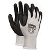 Economy Foam Nitrile Gloves, Medium, Gray/Black, 12 Pairs 9673M