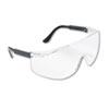 Tacoma Wraparound Safety Glasses, Black Plastic Frame, Clear Lens