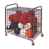 Lockable Ball Storage Cart, 24-Ball Capacity, 37w x 22d x 20h, Black