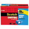 "3850 Heavy-Duty Packaging Tape Cabinet Pack, 1.88"" x 54.6yds, 3"" Core, 18/Pack"